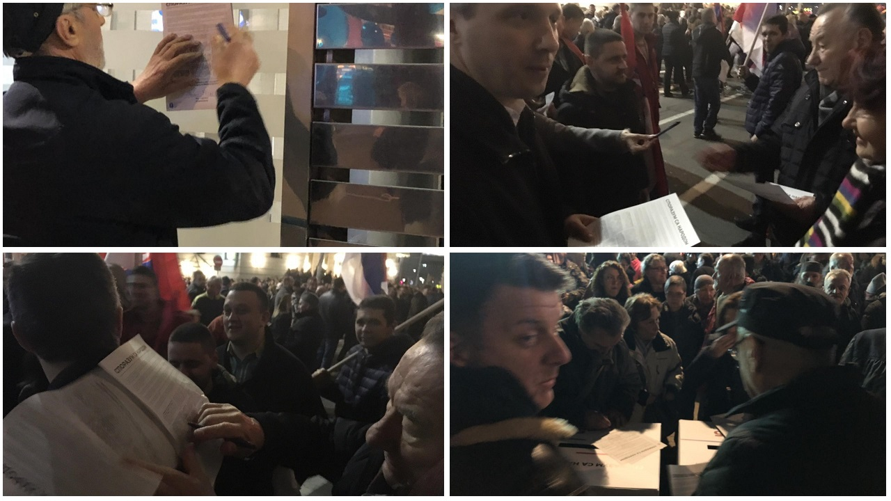 Najmasovniji protest do sad, građani potpisivali Sporazum sa narodom
