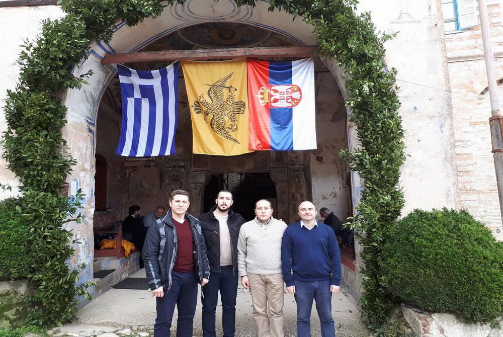 Delegacija Dveri na slavi manastira Hilandar