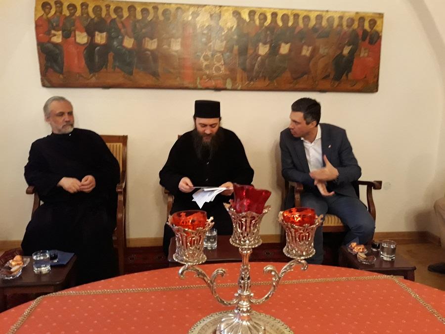 Boško Obradović se susreo sa igumanom manastira Hilandar