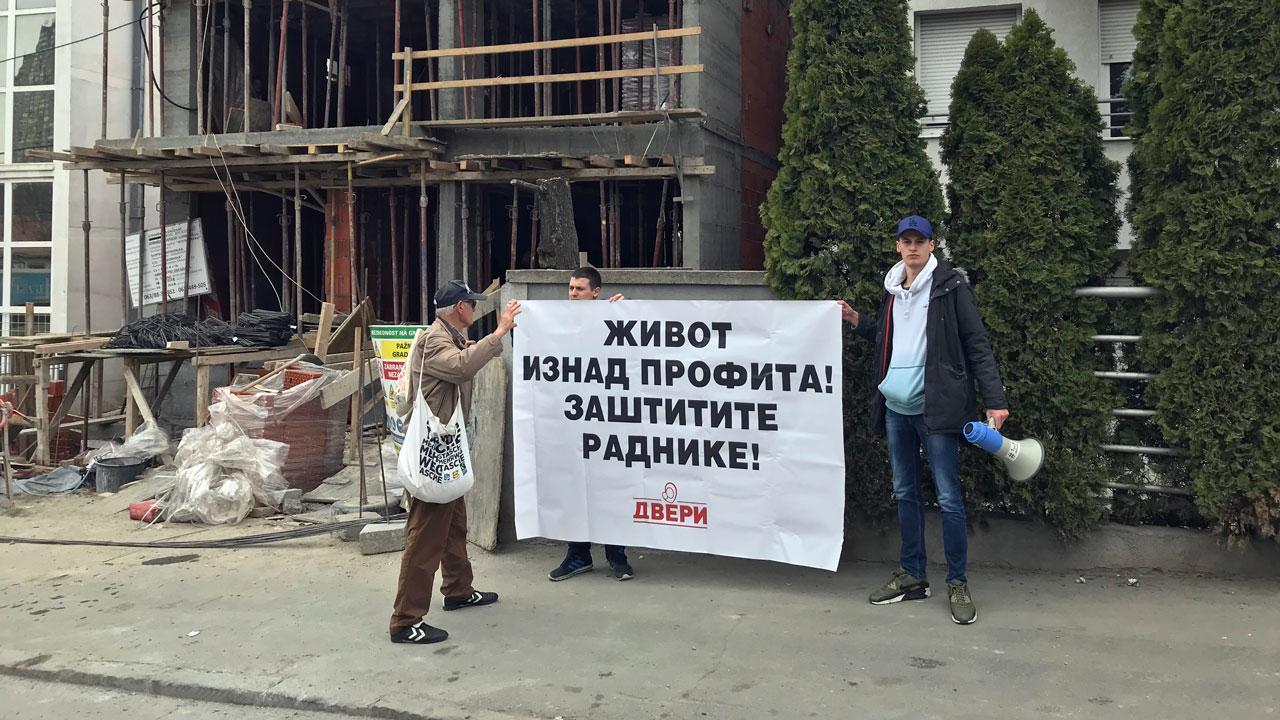 """Omladina Dveri Beograd napravila akciju """"Život iznad profita"""""""