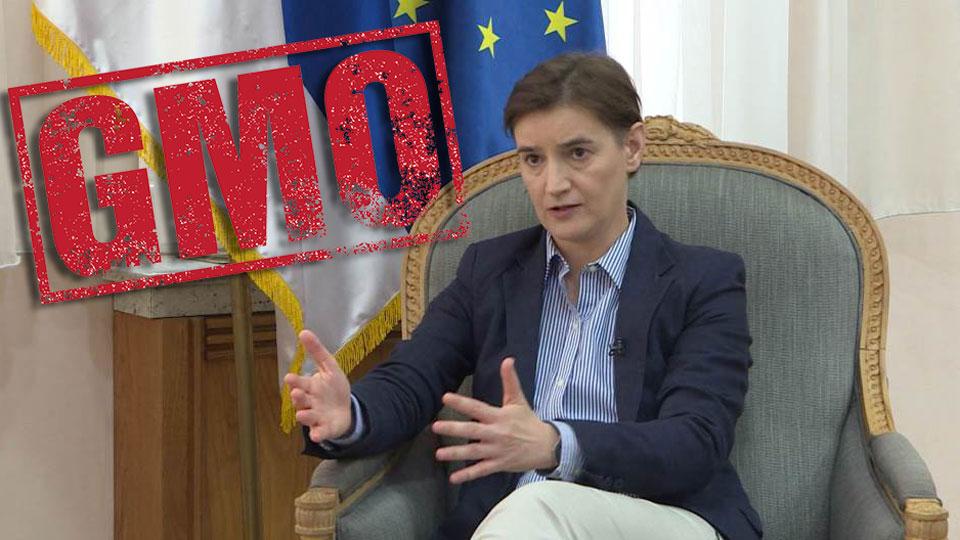 Marija Janjušević: Brnabić izjavama o GMO ugrožava prava deteta