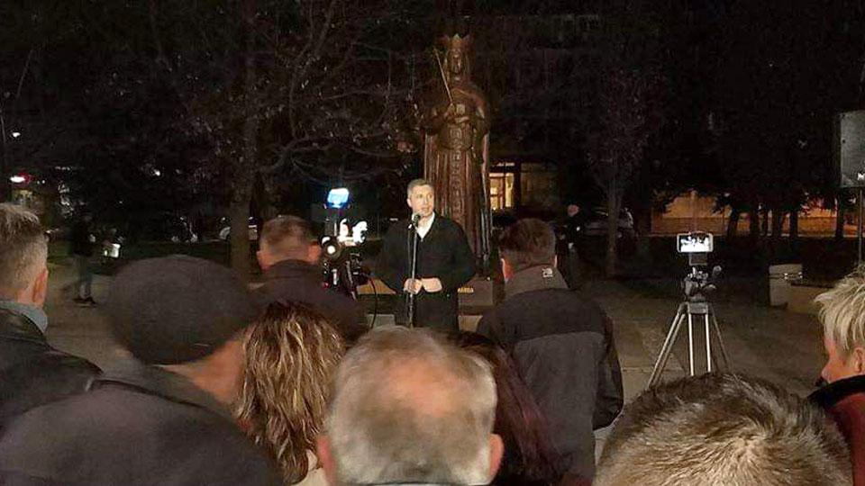 Obradović u Trsteniku: Pravi lider opozicije su građani