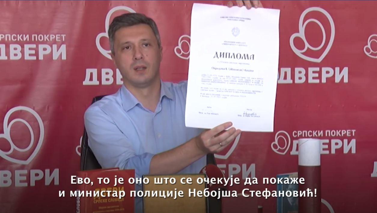 Boško Obradović: Danas je tačno dva meseca kako ministar Stefanović beži od odgovornosti