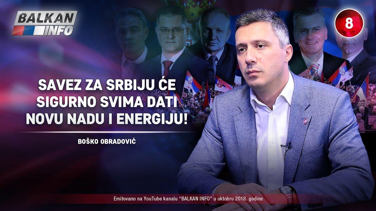 Boško Obradović - Savez za Srbiju će sigurno svima dati novu nadu i energiju!