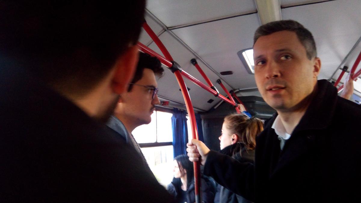 Boško u Lazarevcu lokalnom autobuskom linijom