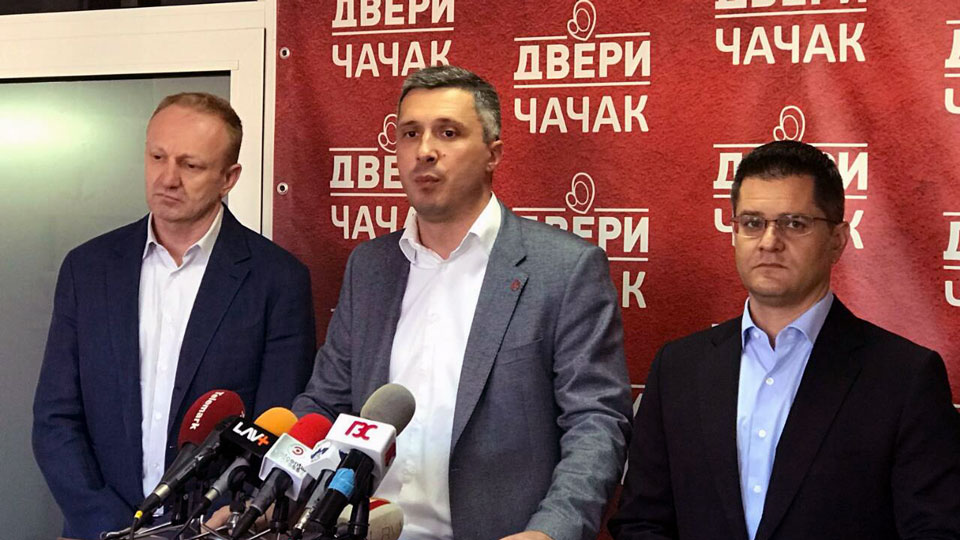 Đilas, Jeremić i Obradović u Čačku: Uskoro dokument o izbornim uslovima