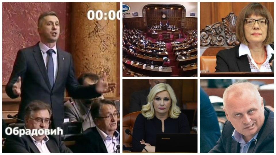 Gojković, Vesić i Mihajlović nevešto pokušavaju da odbrane Vladu koja nema odgovore na pitanja Boška Obradovića
