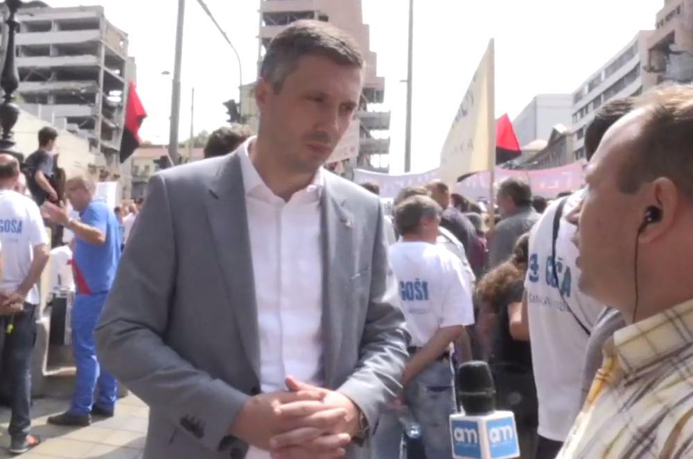 Obradović: Radnici Goše su simbol napaćenog radništva u Srbiji!