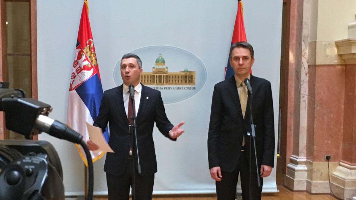 Obradović i Radulović: Tražimo da Skupština raspravlja o Kosovu i Metohiji