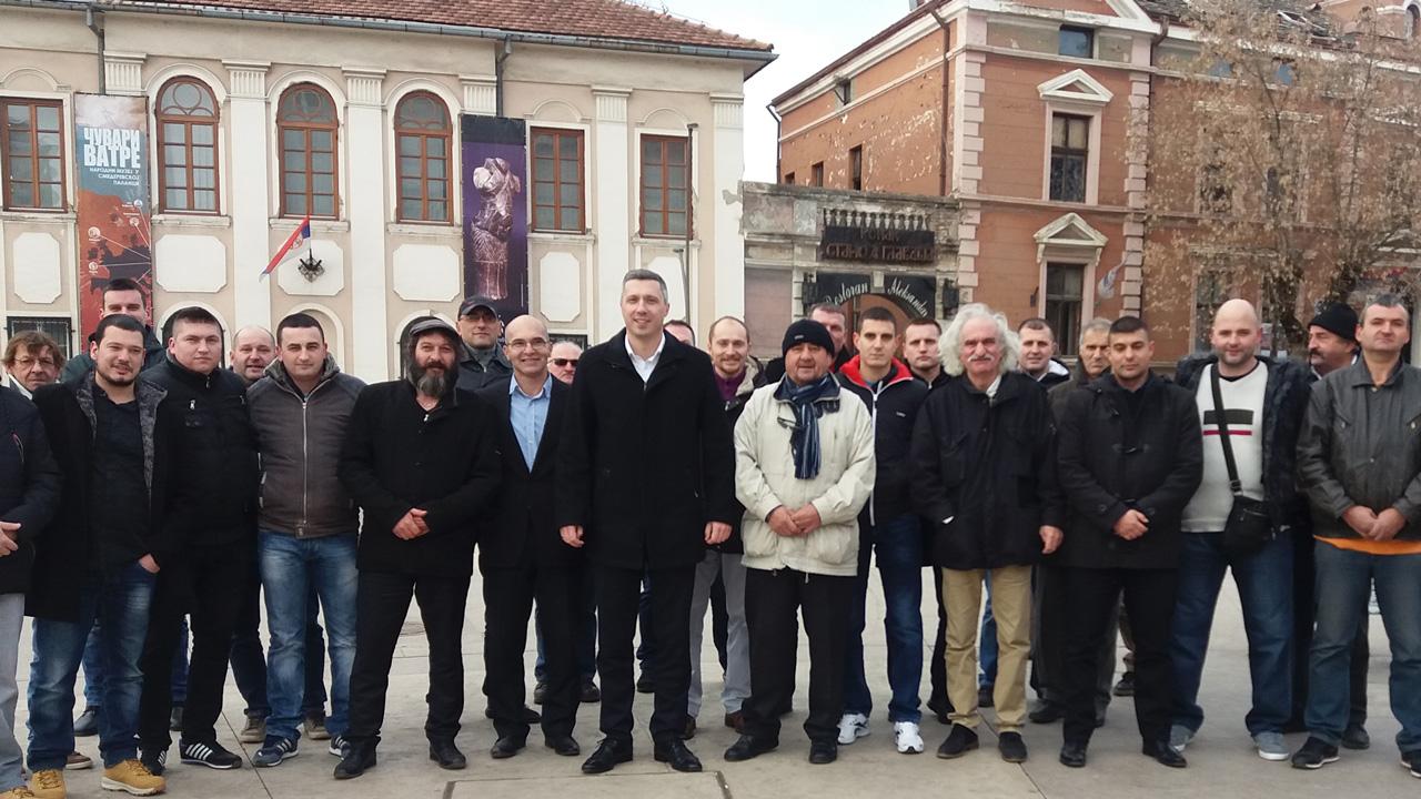 Boško Obradović na novogodišnjem koktelu u Smederevskoj Palanci