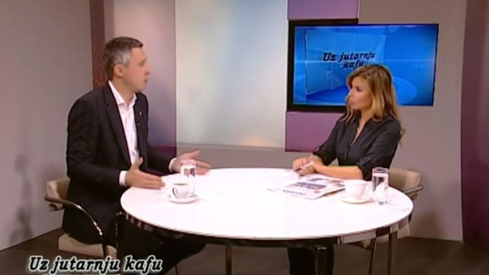Boško Obradović, TV Naša, Uz jutarnju kafu, 9. april 2019.