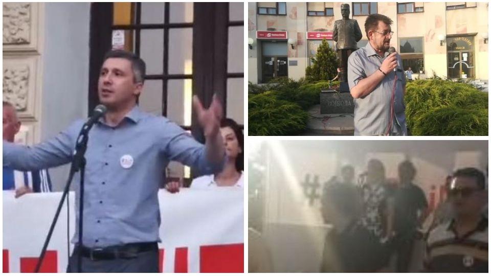 Poslanici Dveri na protestima širom Srbije