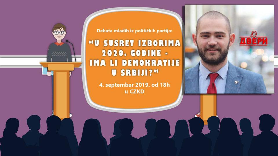 Dobrosav Dević na debati mladih o izborima