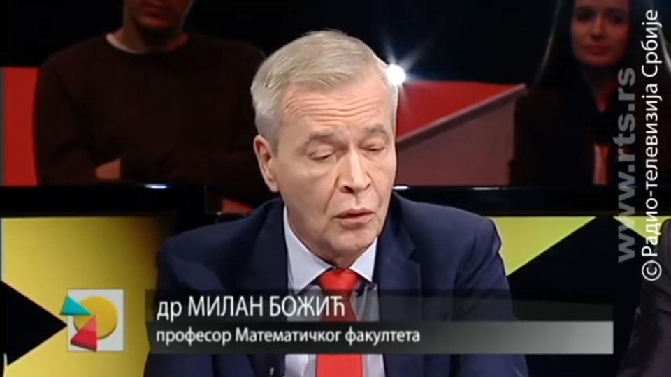 Nastup dr Milana Božića žalostan rezultat propagande ove vlasti