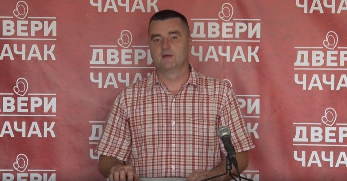 Dragan Ćendić, Dveri Čačak: SNS u Čačku pao na 28% - to je razlog nervoze u redovima naprednjaka