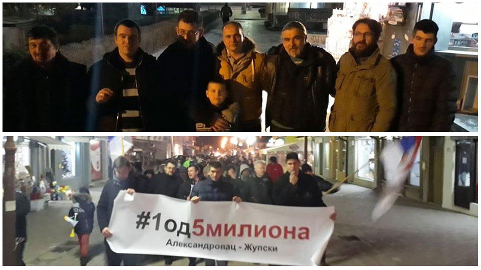 Dragan Vesović na protestu u Aleksandrovcu: Težimo slobodi