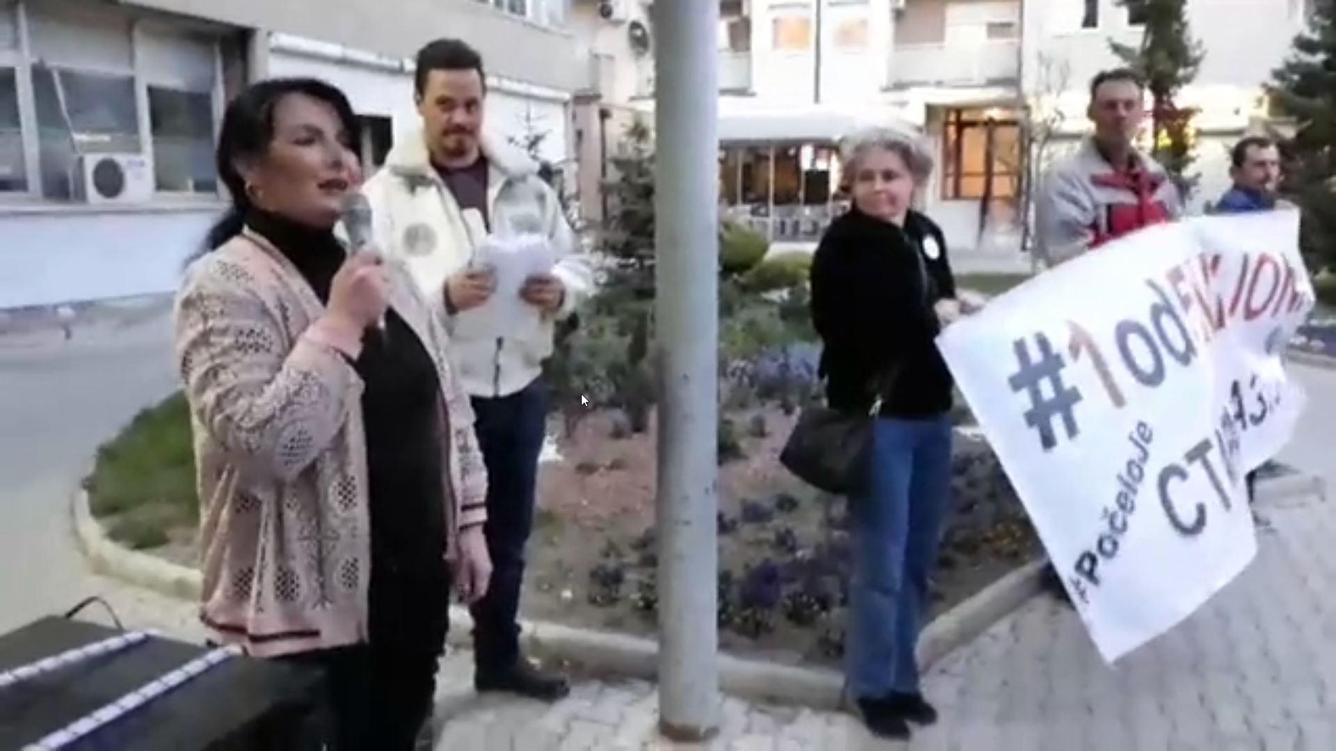 Dragana Milićević na protestu u Staroj Pazovi: Za častan i pošten život