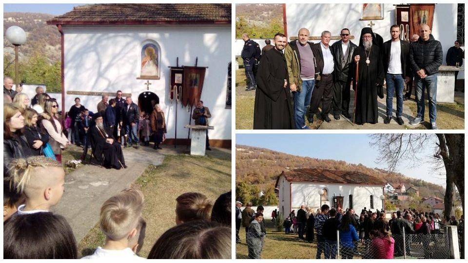 Dveri Bujanovca i Vranja u poseti Hramu Svetog velikomučenika Dimitrija u Preševu