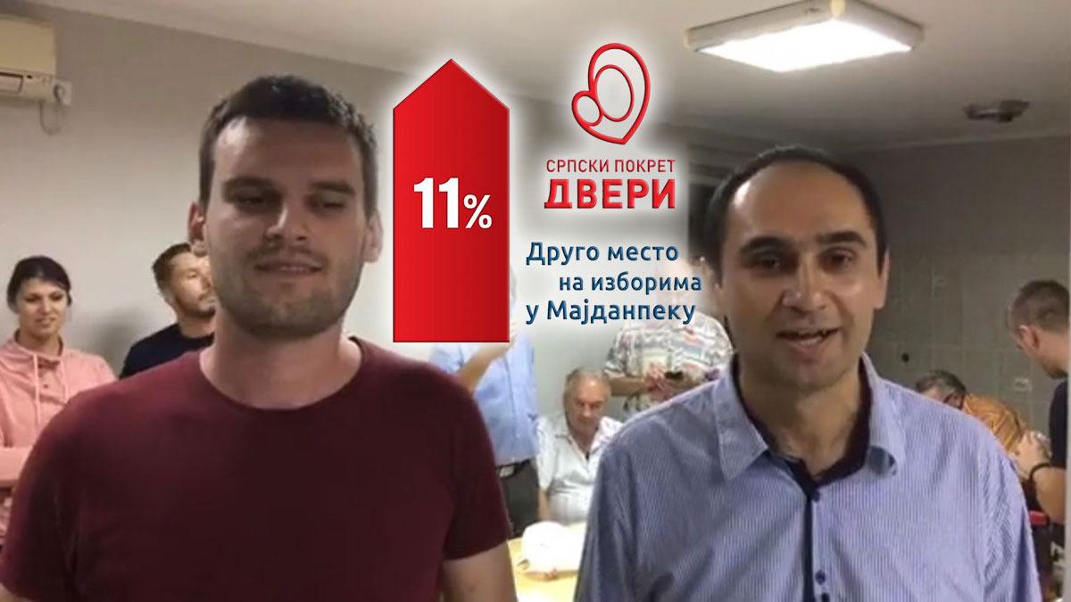 U rezultatu Dveri od 11,3% u Majdanpeku režim vidi potencijalnu snagu Saveza za Srbiju