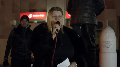 Gordana Marinković Savović govorila na protestu u Čačku