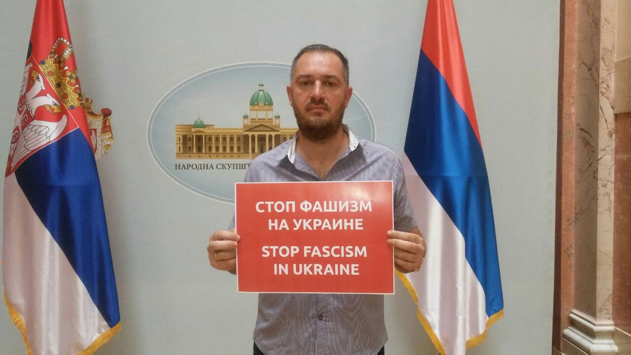 Dveri protestovale zbog dolaska fašiste Porošenka