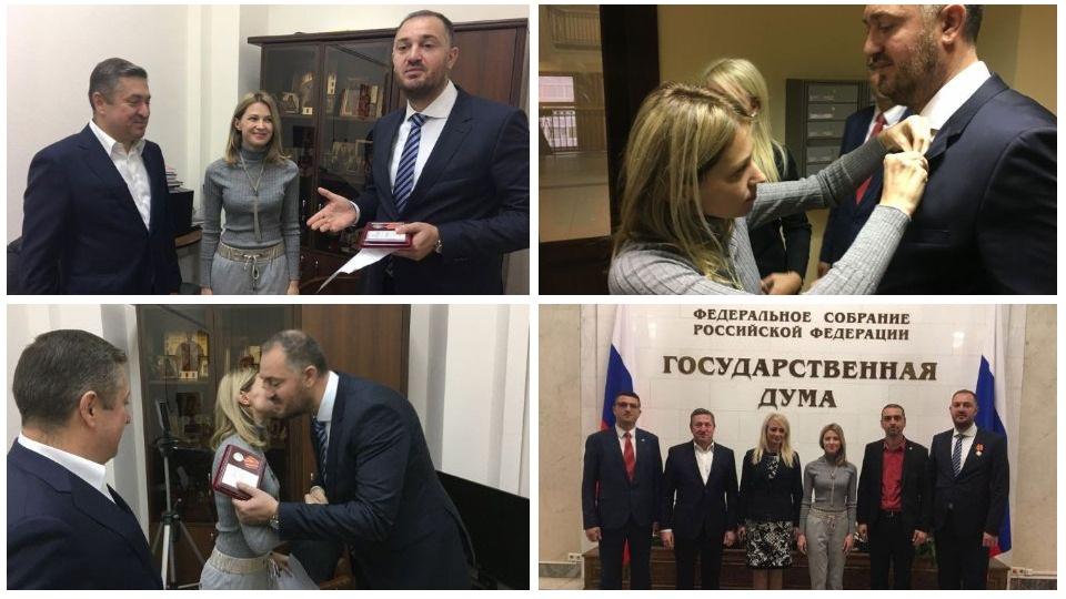Poslaniku Dveri Ivanu Kostiću, Natalija Poklonskaja uručila odlikovanje
