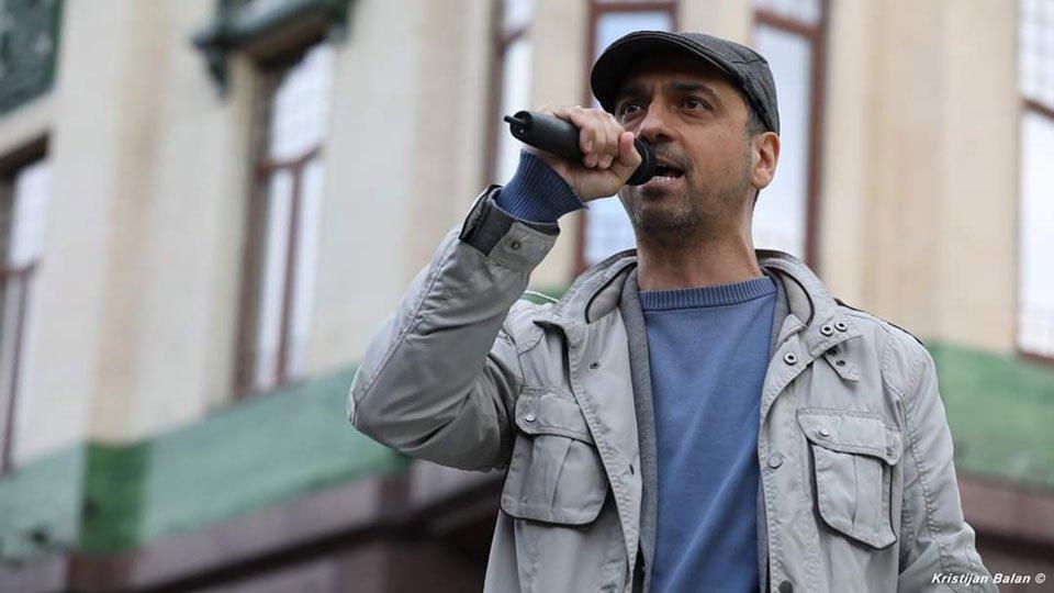 Jugoslav Kiprijanović govorio na protestu u Beogradu