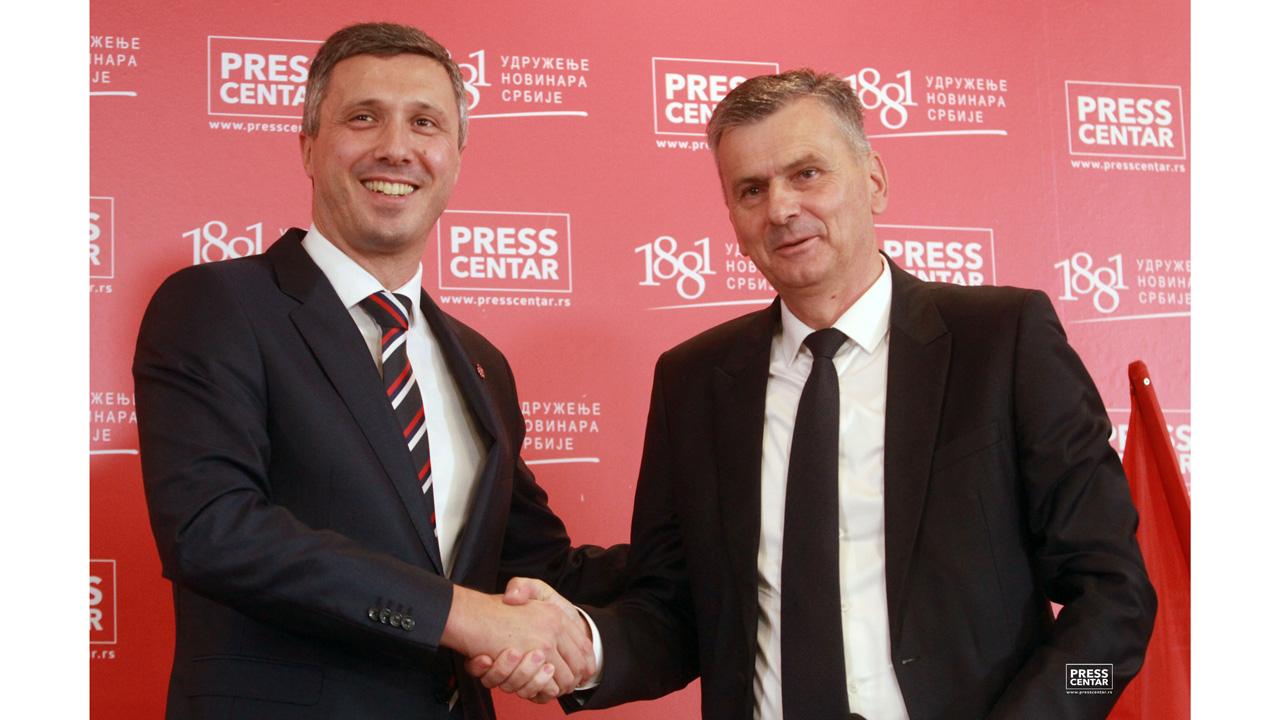 Obradović i Stamatović potpisali sporazum o saradnji