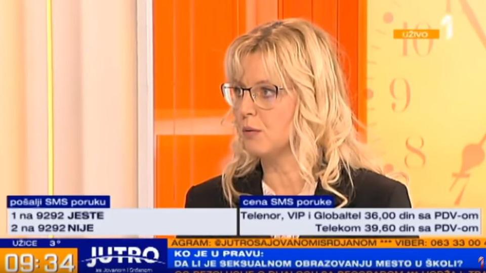 Marija Janjušević, TV Prva, jutarnji program, 05.dec.2018.