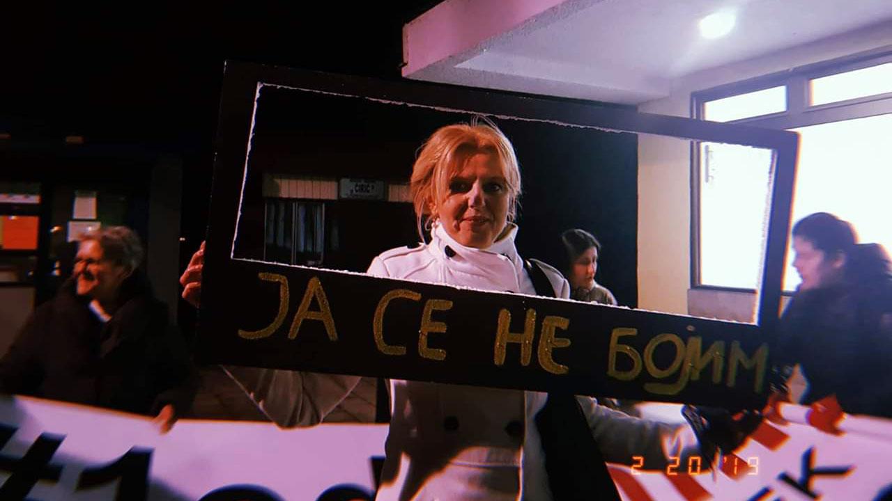 Marija Janjušević govorila na protestu u Majdanpeku