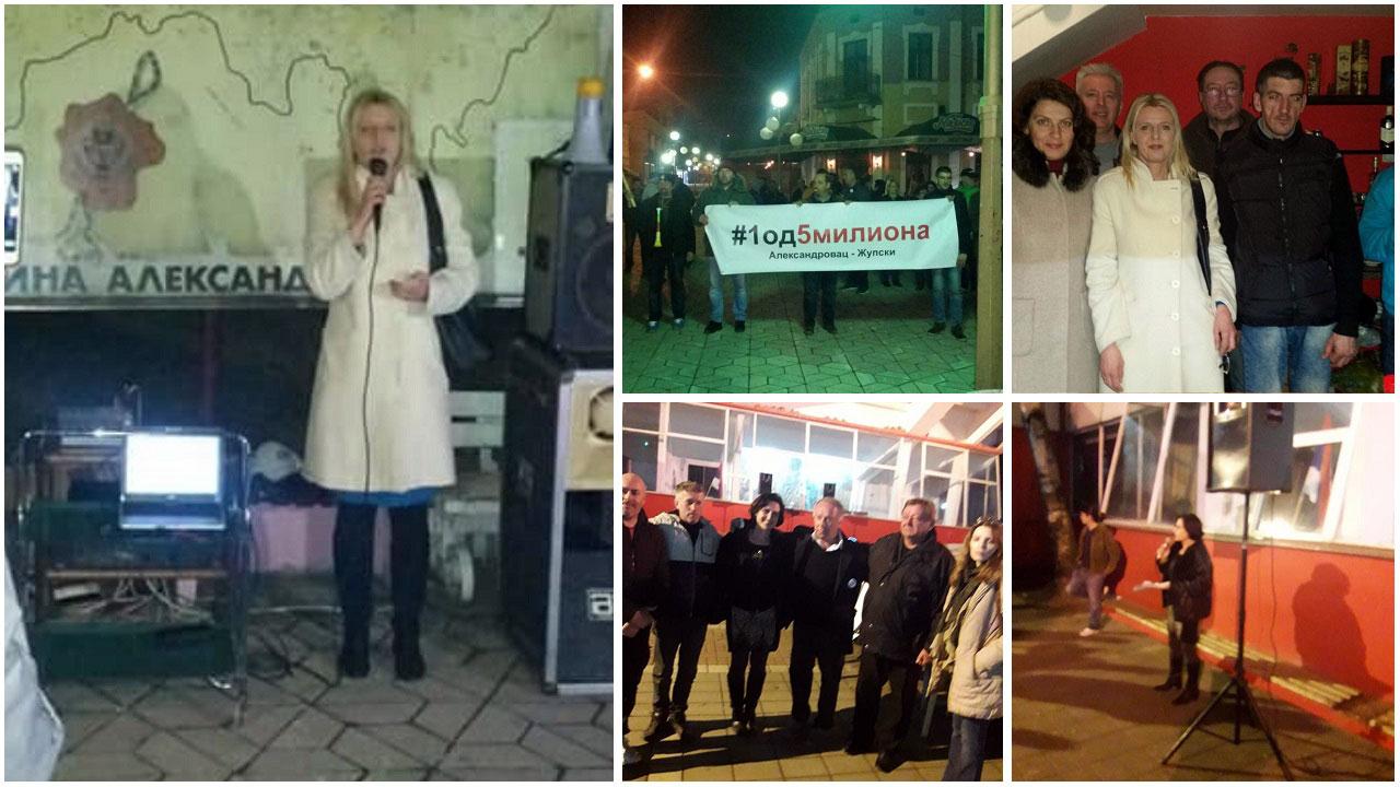Dveri na protestima u Aleksandrovcu i Lebanima