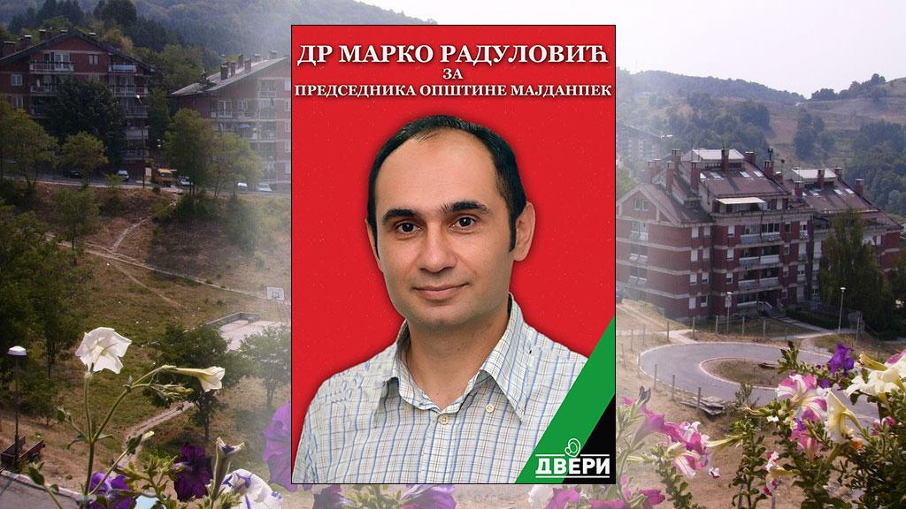 Dr Marko Radulović kandidat Dveri za predsednika opštine Majdanpek