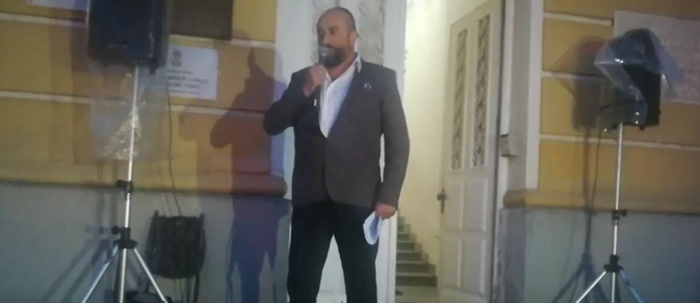 Milovan Jakovljević na protestu 1 od 5 miliona u Užicu