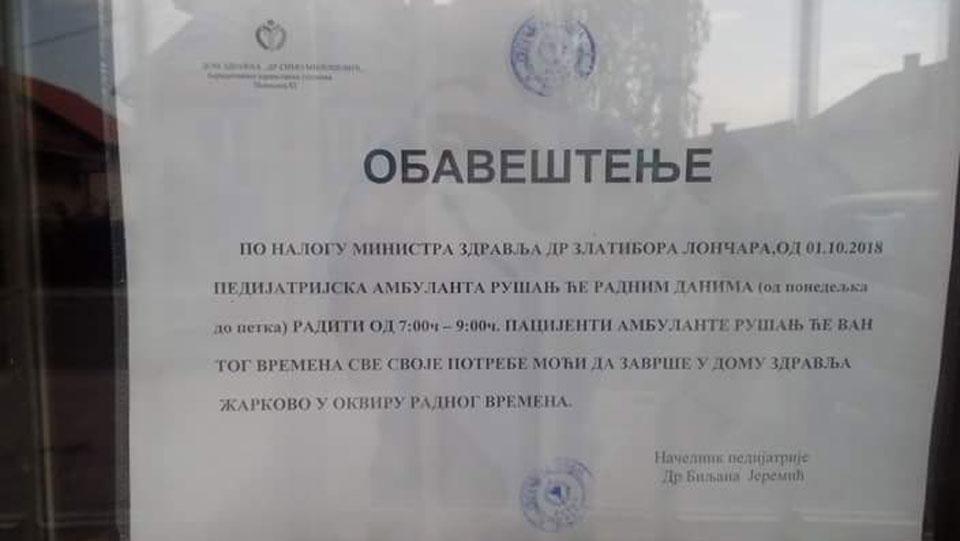 Ministar kaznio građane Rušnja zbog protesta
