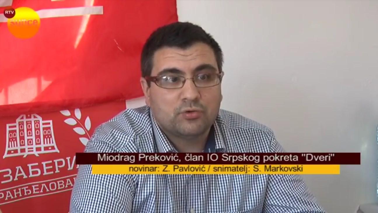 Aranđelovac: Dveri i Naši pozvali javnog tužioca zbog video nadzora od 22,5 miliona