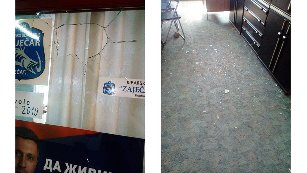 Napadi na Dveri se nastavljaju, razbijena kancelarija u Zaječaru