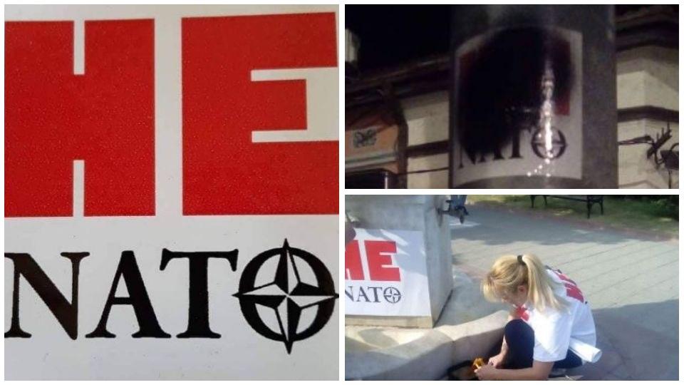 """Da li uništavanje plakata """"Ne u NATO"""" znači da je SNS za ulazak u NATO?"""