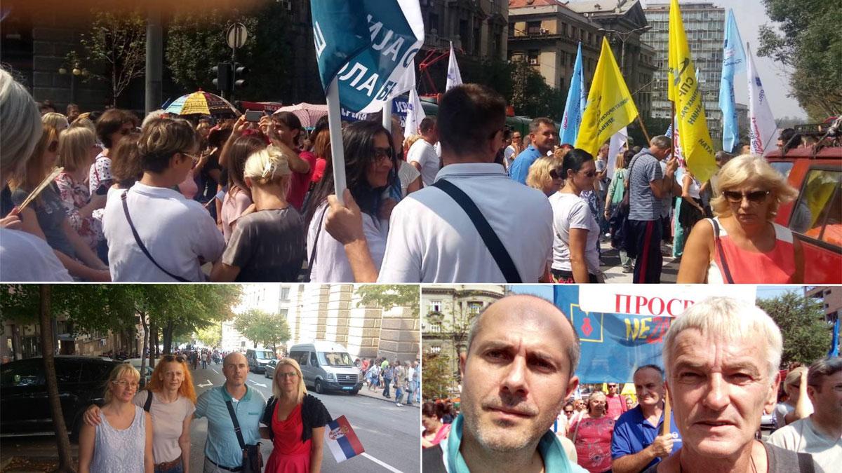 Srpski pokret Dveri kao i uvek uz svoj narod i prosvetare