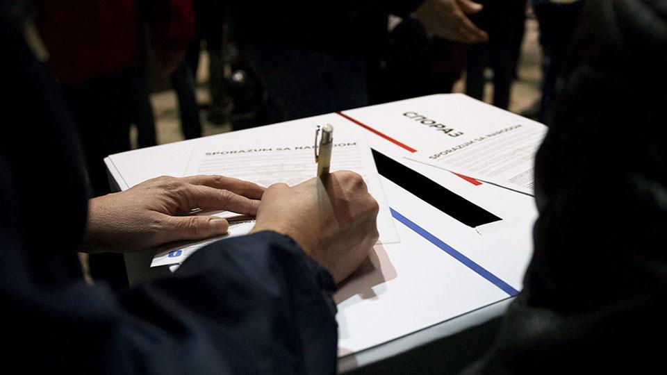 Potpisnici Sporazuma sa narodom neće učestovati na skupštinskom zasedanju u ponedeljak