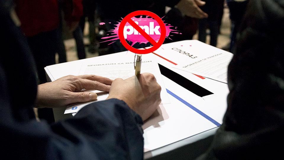 Potpisnici Sporazuma sa narodom uputili zahtev REM-u: TV Pink oduzeti nacionalnu frekvenciju