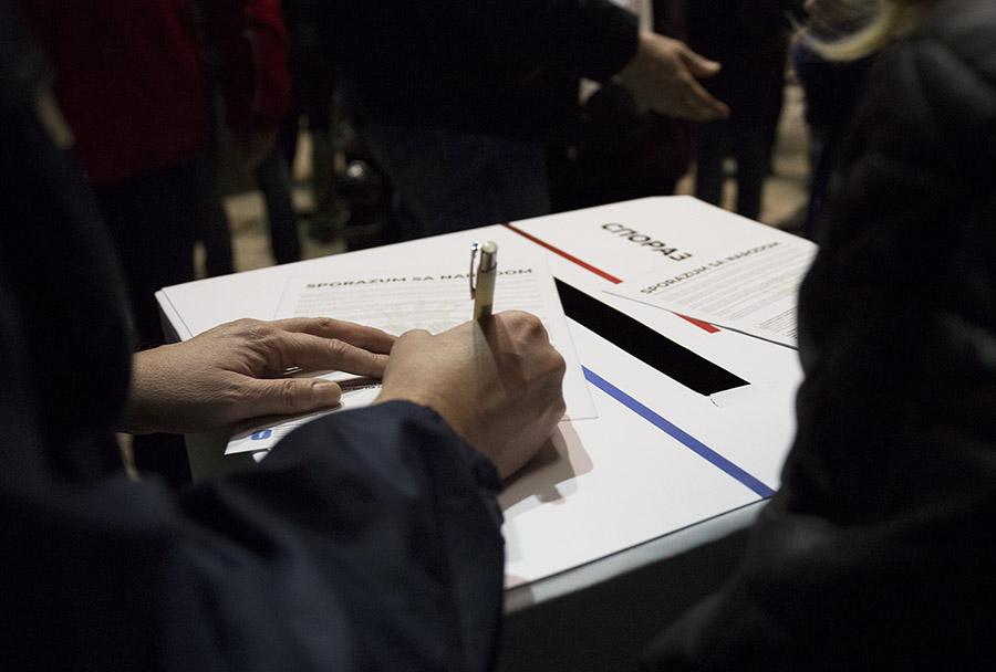 """Održan sastanak potpisnika Sporazuma sa narodom i organizatora protesta """"1 od 5 miliona"""""""
