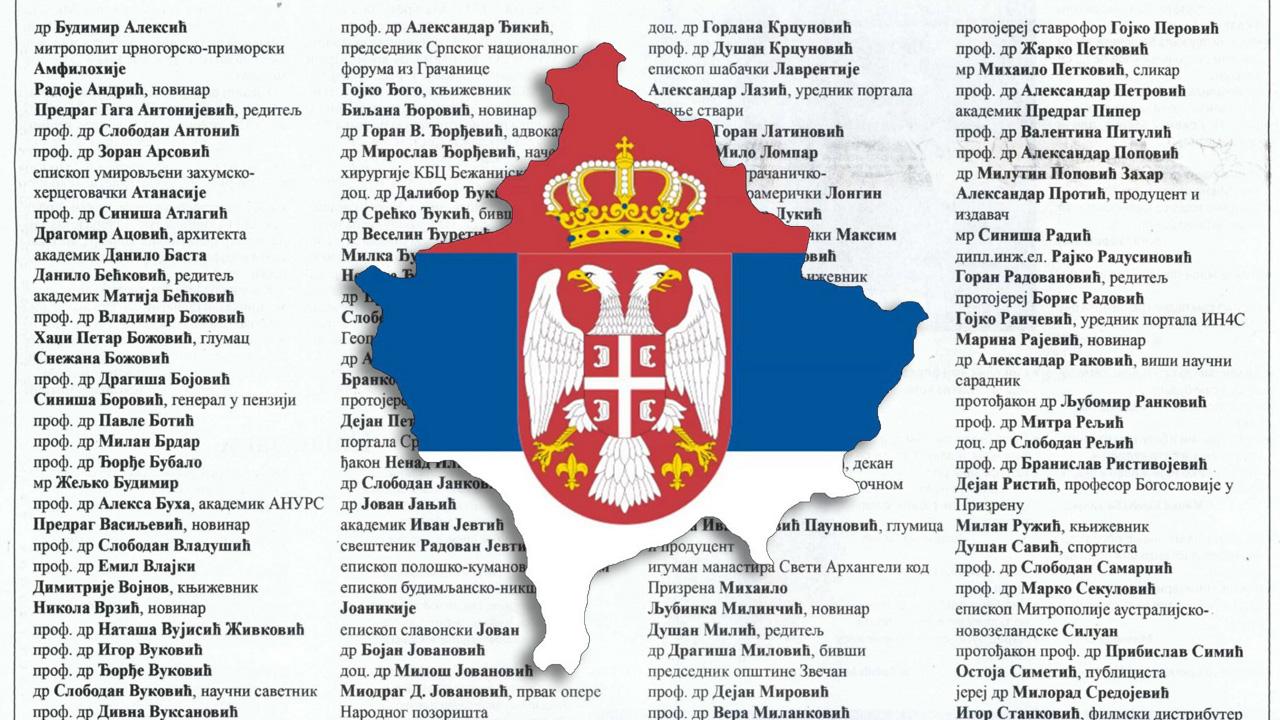 Apel za odbranu Kosova i Metohije