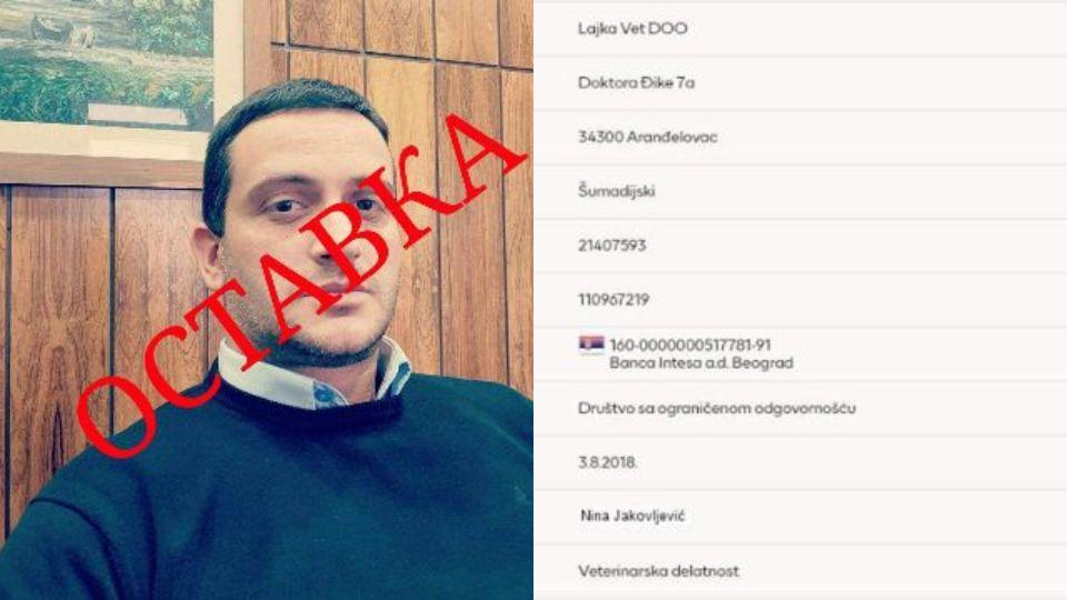 Dveri Aranđelovac: Potpredsednik opštine sam sebi namešta tendere