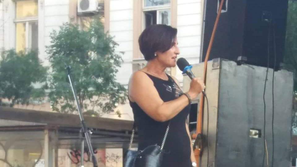 Tamara Kerković na 31. protestu u Beogradu