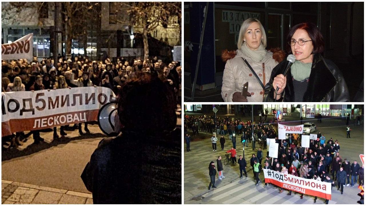Protest u Leskovcu sve masovniji, govorila Tamara Milenković Kerković