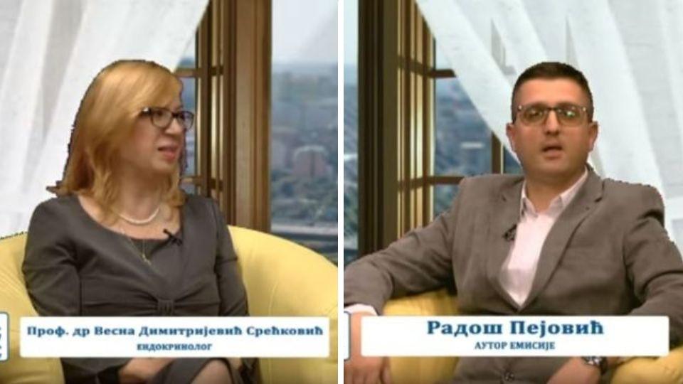 """Radoš Pejović i prof. dr Vesna Dimitrijević-Srećković – emisija """"Srbija – prijatelj porodice"""""""