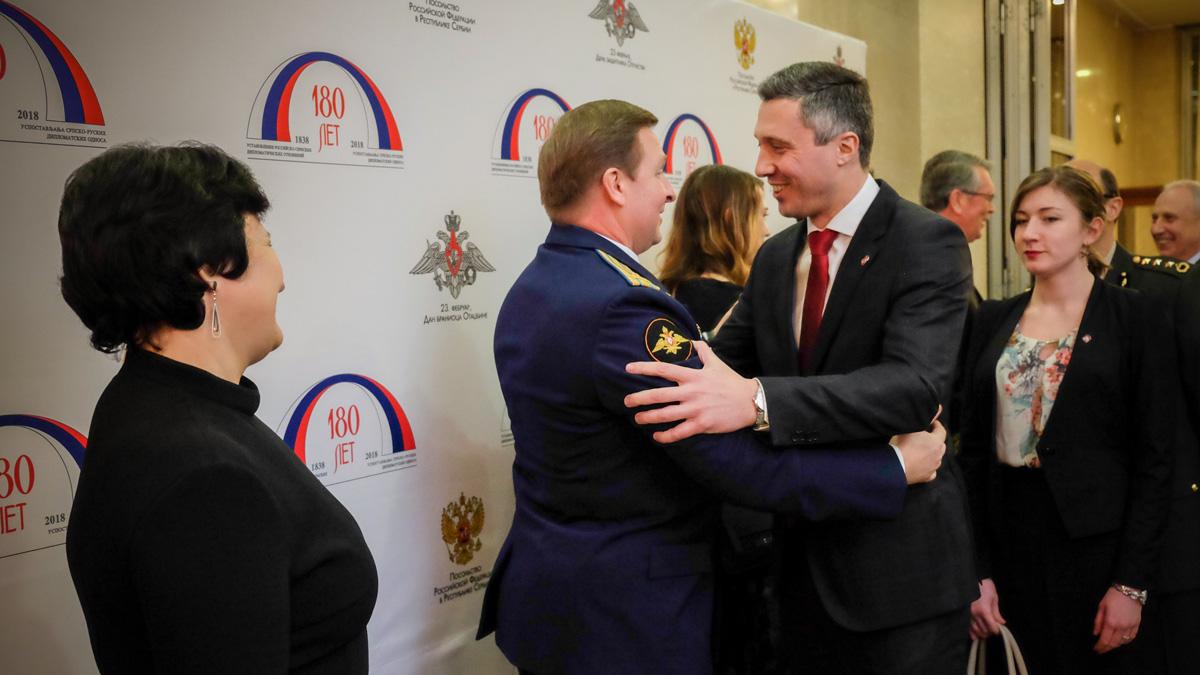 Boško Obradović u Ambasadi Rusije: I Srbija treba da ima Dan branilaca otadžbine