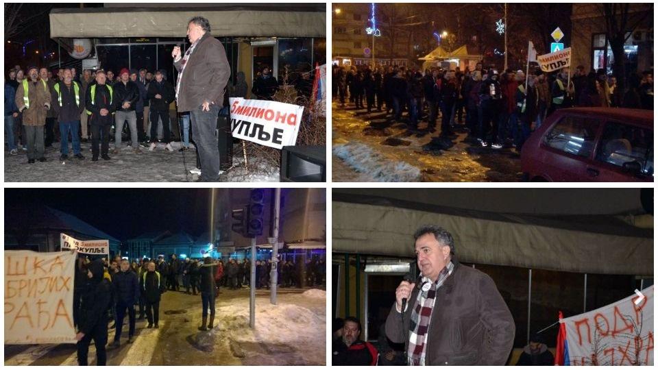 Srđan Škoro na najvećem protestu u Kuršumliji do sada!