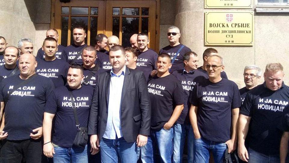 Dveri osuđuju pravno nasilje nad predsednikom Vojnog sindikata Novicom Antićem