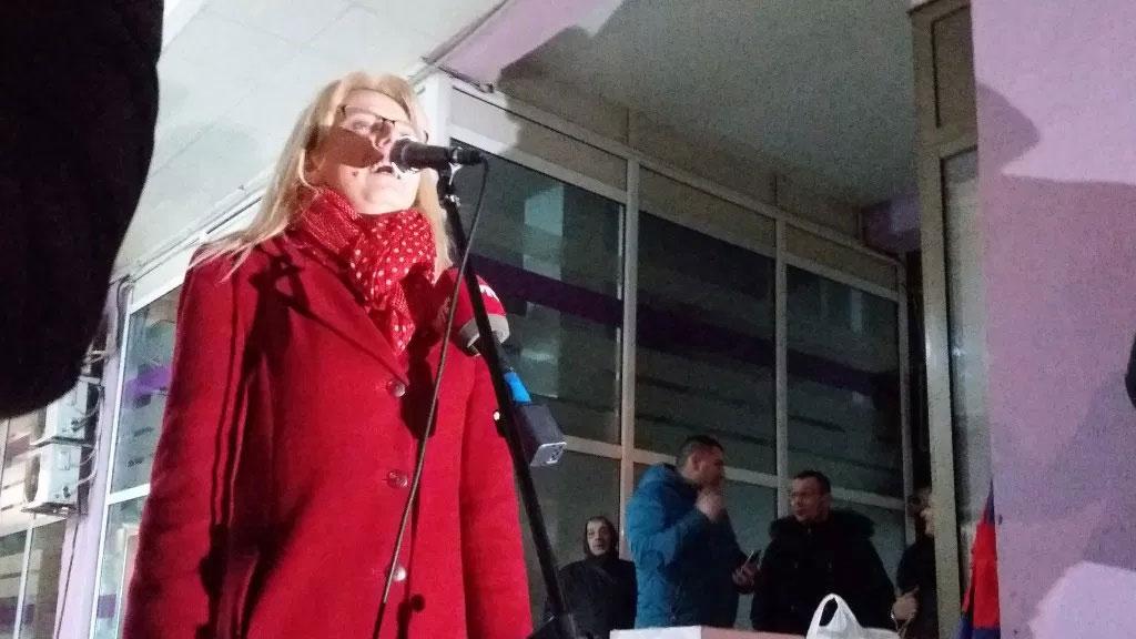 Marija Janjušević u Vranju: Protestima se borimo za život Srbije